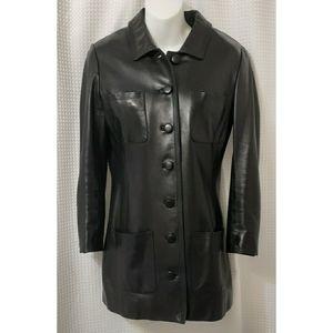 Chanel Leather Jacket Black 6US, 40FR, MED